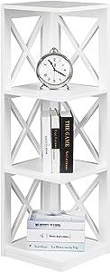Convenience Concepts Oxford 3 Tier Corner Bookcase, White