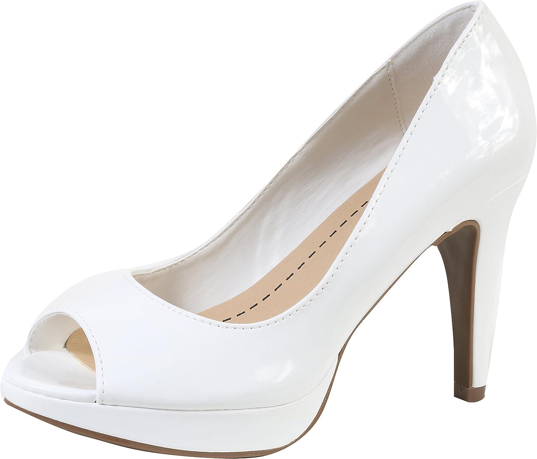 Cambridge Select Women's Peep Toe Slip-On Platform Stiletto High Heel Pump