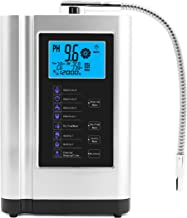 Ionizador de agua, purificador de agua PH 3.5-10.5 máquina de agua de ácido alcalino, hasta -500 mV ORP, 6000 litros por filtro, 7 ajustes de agua, autolimpieza, voz inteligente plata