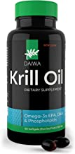 Daiwa Krill Oil – Omega 3 Krill Oil Capsules for Brain, Heart & Joint Support – Krill Oil Supplement with No Fishy Afterta...