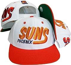 Phoenix Suns White/Orange Two Tone Plastic Snapback Adjustable Plastic Snap Back Hat/Cap