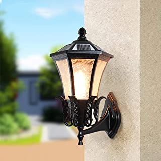 ZKS-KS Retro Wall Lamp Waterproof European Vintage Dual-use Wall Lamp Home Decoration With E27 Bulb Solar Wall Lantern Out...