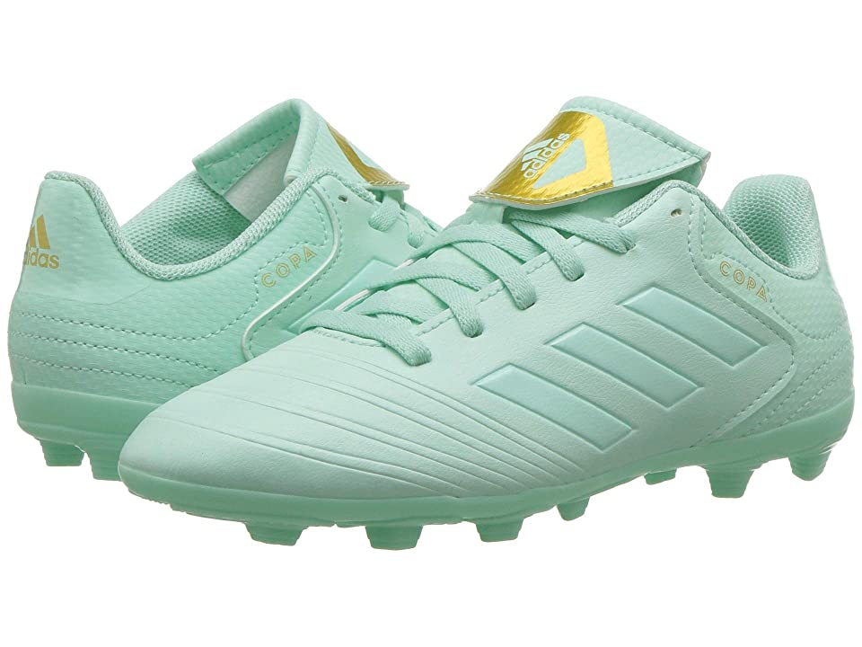 adidas Kids Copa 18.4 FXG Soccer (Little Kid/Big Kid) (Clear Mint/Gold Metallic) Kids Shoes