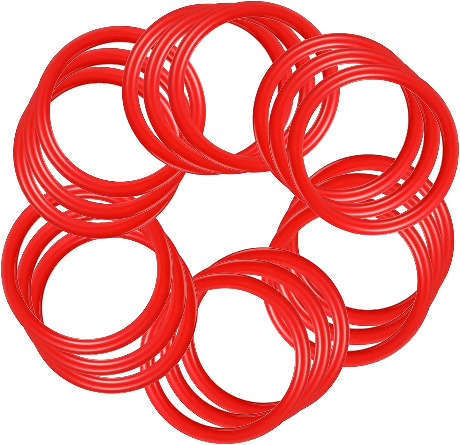 Meooeck 48 Pieces Plastic Ring Toss Japan's largest assortment R Fort Worth Mall toss Inch Toy 2.9 Red