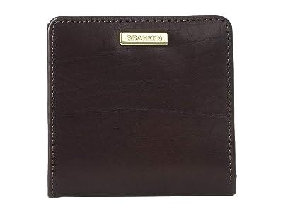 Brahmin Topsail Jane Coin Card Cases (Espresso) Wristlet Handbags