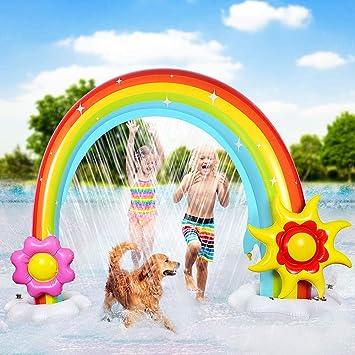 Anpro Rainbow Arc Sprinkler Summer Garden Giant Water Game Sprinkler