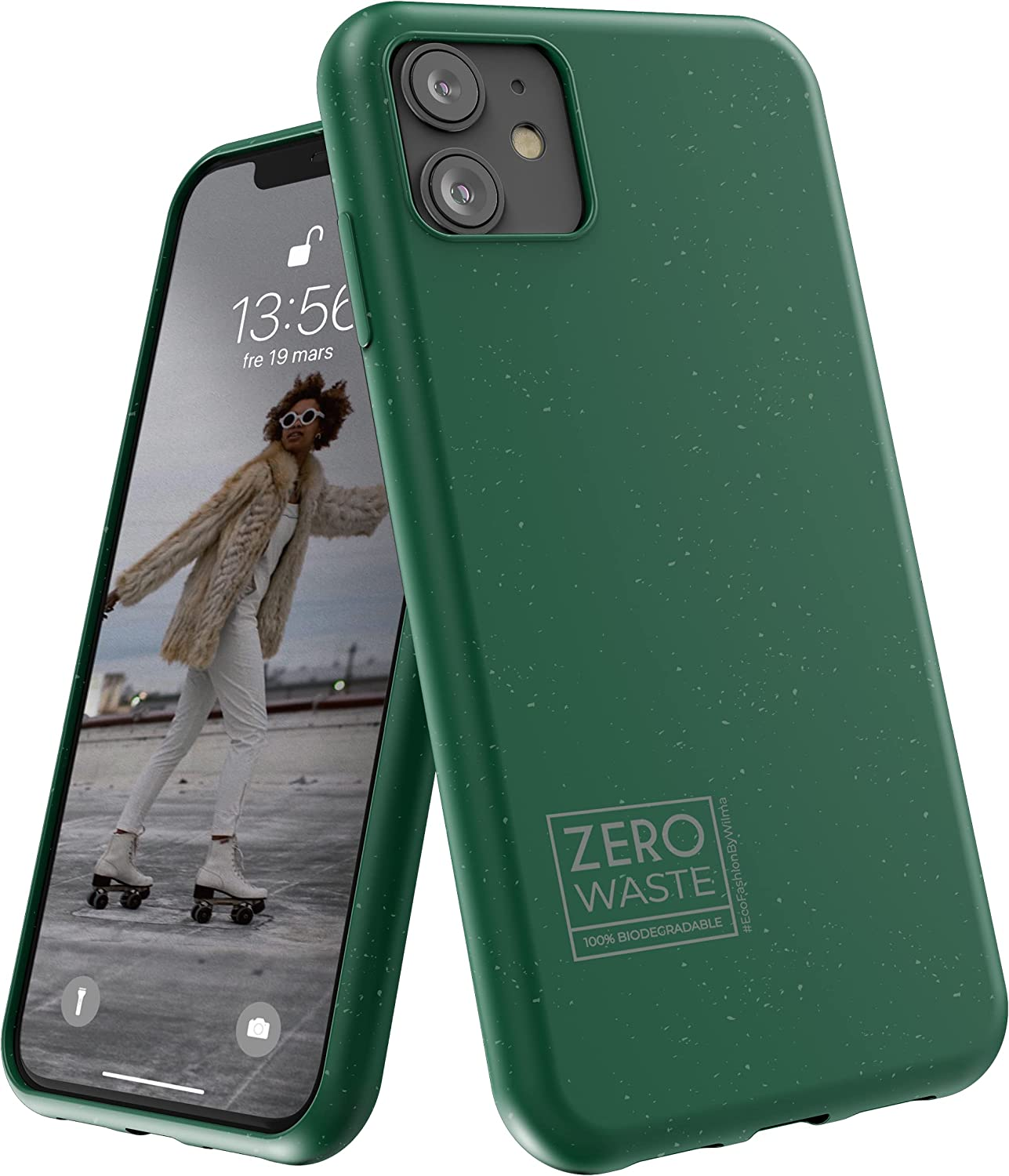 Wilma Biodegradable Compatible with iPhone 11 Case, Zero Waste, Shockproof Protective Phone Cover, Eco Friendly, Stop Plastic Pollution, Plastic Free Case, Green