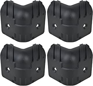 Kmise Black Hard Plastic Guitar Amp Cabinets Amplifier Speaker Cabinet Corner Protectors L Size Pack of 4