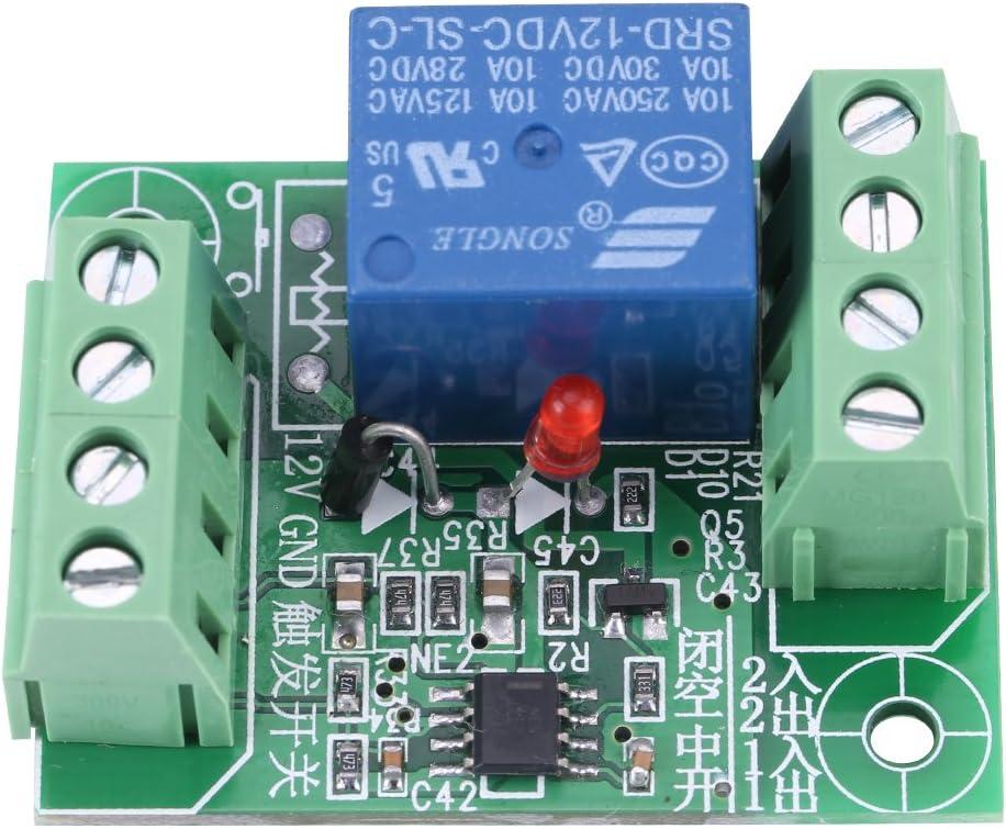 Relé Electrónico de Control de Conmutación Módulo de Circuito Biestable de Disparo de Acción En DC 12v