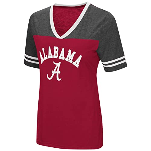 Colosseum Women s NCAA Varsity Jersey V-Neck T-Shirt 0a6398075