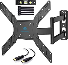 PERLESMITH TV Wall Mount for 23-55 Inch TVs with Swivel & Extends - Wall Mount TV Bracket VESA 400x400 Fits LED, LCD, OLED...
