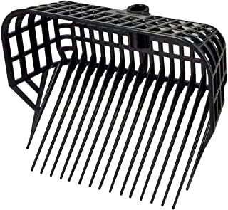 Kerbl Mistgaffel utan handtag (rullgaffel med stor fyllningsvolym, 17 spetsar, okrossbar plast, spånskiva svart, mått 38 x...