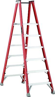 Louisville Ladder FMP1506 Type IA Fiberglass Platform Ladder with 350 lb Load Capacity, 6'