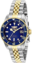 Invicta Women's Pro Diver Quartz Watch with Stainless Steel Strap, Two Tone, 16 (Model: 29188)