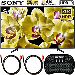 Sony XBR-65X800G 65-inch 4K Ultra HD LED TV (2019 Model) Bundle with Deco Gear 2.4GHz Wireless Backlit Keyboard and 2X Deco Gear 4K Copper 6 FT HDMI Cable
