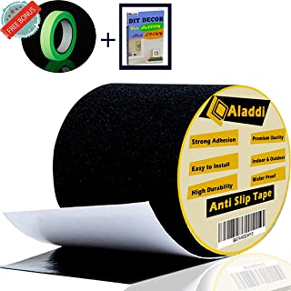 [FLASH SALE] Anti Slip Tape - Bonus Glow In The Dark Tape + eBOOK  Best Anti Skid Safety Tape for Indoor and Outdoor Tread High Friction Strong Grip Abrasive - Improves Traction, Prevents Risk 4''X16'