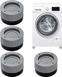 Tapis Anti-vibration pour Machine à Laver, Jolintek 4 Pièces Tapis Machine à Laver Anti Vibration, Tampons Pieds en Caoutc...