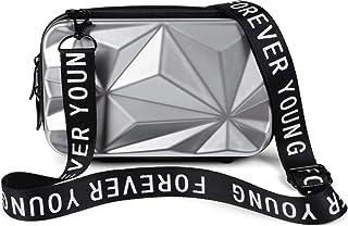 styleBREAKER Damen Multifunktion Umhängetasche 3-D Prisma Oberfläche mit Reißverschluss, Crossbody Bag, Case 02012324