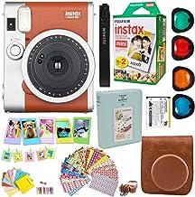 Fujifilm Instax Mini 90 Neo Classic Instant Film Camera (Brown) + Fuji Instax Film Twin Pack (20PK) + Accessories Kit/Bund...
