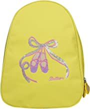 FEESHOW Girls' Ballet Dance Backpack Shoes Embroidered School Shoulder Bag One Size Yellow