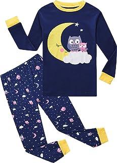 Girls Pajamas Toddler Cotton 2 Piece Pjs Kids Sleepwear Clothes Sets