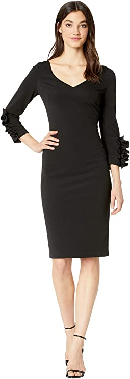 Scrunch Ruffle Sleeve Dress