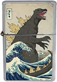 Customized Collectables Godzilla Vintage Japanese Monster SciFi Flip Top Oil Cigarette Lighter