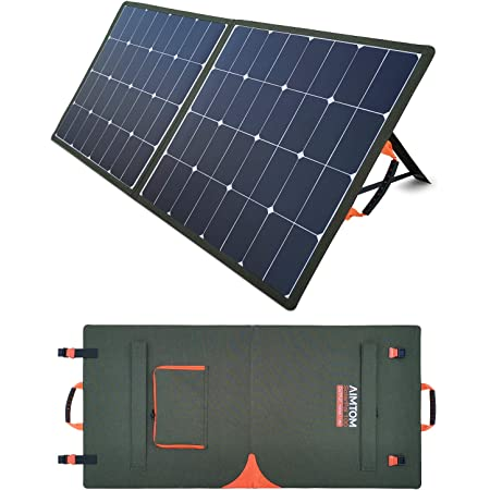 Solar Charger Kit for Portable Generator Power Station with 2 USB Ports /& 18 V DC Output for RV Boat Laptop Tablet GPS Smartphones Camera Lamp Travel Picnic Camping 100 watt Foldable Solar Panel