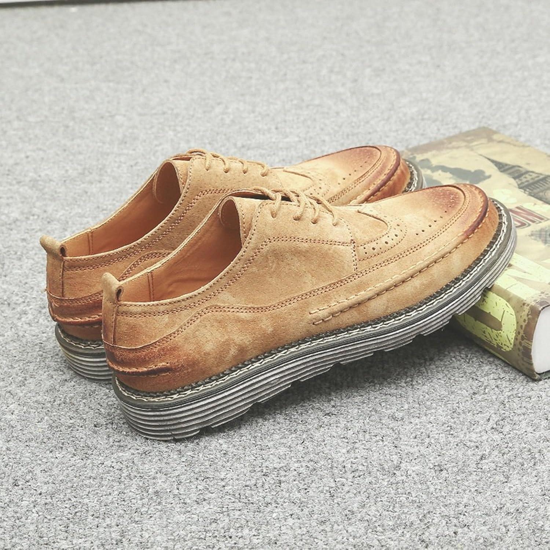 Herrenschuhe Feifei Herren Freizeitschuhe Frühling und Herbst dicken Boden Freizeit Retro Flut Schuhe 2 Farben (Farbe   Gelb, gre   EU39 UK6 CN39)