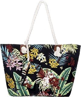 DonDon Große Strandtasche wasserabweisend mit Reißverschluss Cook Island