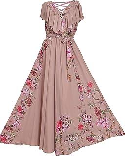 فستان شيفون طويل