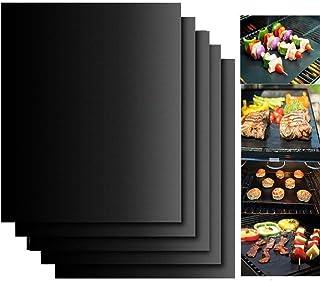 cdsnxore Tapis de Cuisson Barbecue,4 pièces 40 * 33cm,Pratique pour Les barbecues mais Aussi en Cuisine dans Les poêles et...