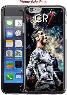 iPhone 6 Plus Case, iPhone 6S Plus Cases, Real Madrid CF MVP Cristiano Ronaldo 08 Drop Protection Never Fade Anti Slip Scratchproof Black Hard Plastic Case