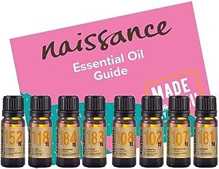 Naissance Top 8 beliebteste ätherische Öle Duftset für Muskeln und Gelenke - 100% naturrein, tierversuchsfrei, vegan und unverdünnt - mit Eukalyptusöl, Rosmarinöl, Ingweröl u.a.