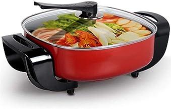 Grill électrique portable, Cuisinière électrique multifonction Soiffurée wok électrique chaude électrique pour cuire riz n...