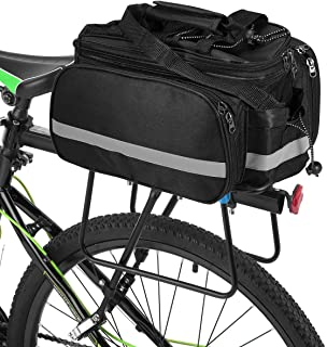 546509f5af1 Lixada Bolsa Trasera para Bicicleta Multifuncional Bolsa de Asiento Trasero  Bolsa de Hombro para Ciclismo al