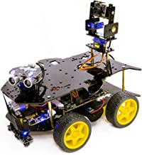 Yahboom Raspberry Pi Super Starter AI Robot Kit for 4B 3B+ with HD Camera Programmable 4WD Car Face Detection Obstacle Avo...