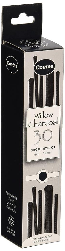 Speedball 1004 Coates Assorted Artist Willow Charcoal (30 Sticks), Black
