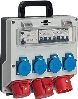Brennenstuhl Wandverteiler IP44 Stromverteiler zur Wandbefestigung 32A, mit FI-Personenschutzschalter 30mA