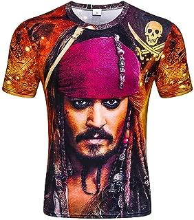 Homme Pirate Costume barbe noire Chapeau T-shirt épée capitaine Carribean Déguisements