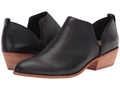 FRYE AND CO. Rubie Slip-On Bootie (Black Tumbled Buffalo) Women