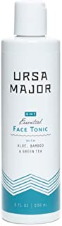 Ursa Major Essential Face Tonic | 4-in1 Natural Toner to Cleanse, Exfoliate, Soothe and Hydrate | 8 ounces