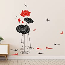 Amazon Brand - Solimo Wall Sticker for Living Room (Botanical Art, Ideal Size on Wall: 115 x 120 cm)