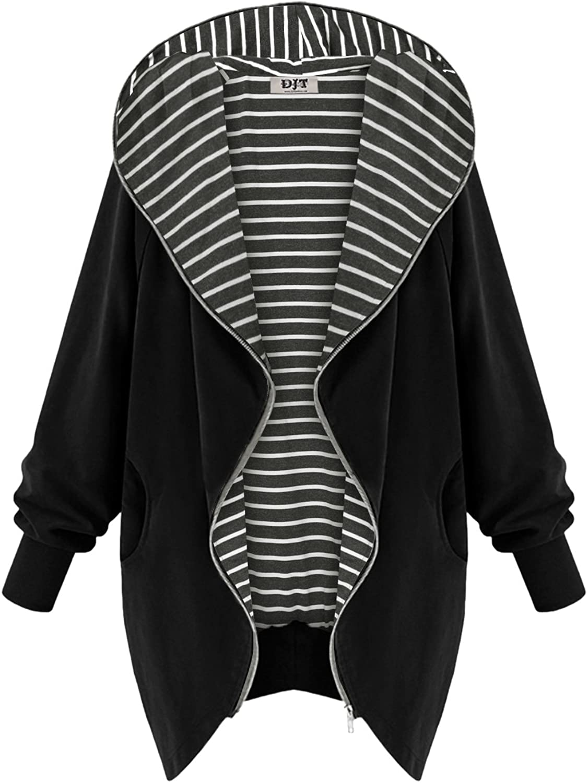 DJT Womens Hooded Zipup Sweatshirt Coat Jacket