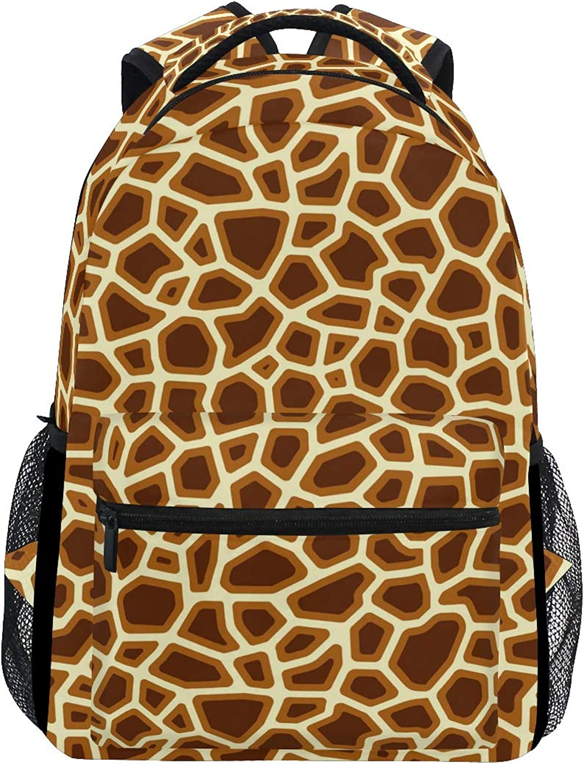 Tricolor Giraffe Decorations Large Backpack Travel Outdoor Sports Laptop Backpack for Women & Men College School Water Resistant