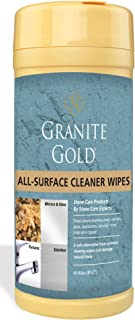 Granite Gold All-Surface Wipes – Household Cleaning Wipes For Stainless Steel, Glass, Granite, Quartz, Marble Surfaces - 40 Pack
