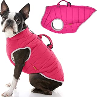 Gooby - Padded Vest Lift, Dog Jacket Coat Sweater with Control Handle, Zipper Closure and Leash Ring, Pink, Large