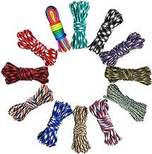 Cuerda de paracaídas 550 multifunción 12 colores 10 pies cuerda de paracaídas, cuerda de supervivencia al aire libre hacer puño de mono, cordón, llavero, mosquetón, collar de perro, camping, escalada