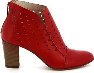 LEONARDO SHOES Luxury Fashion Womens Z012AMERICARED Red Ankle Boots | Season Permanent