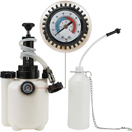 Z ZELUS 3L Purgeur de Frein Voiture, Purgeur de Liquide de Frein, avec Adaptateur E20, Pression de Service de 10-30 PSI, Bleeder de Frein